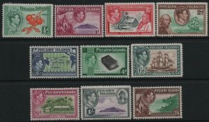 PITCAIRN ISLANDS-1940-51 Set to 2/6 Sg 1-8 MOUNTED MINT V39245
