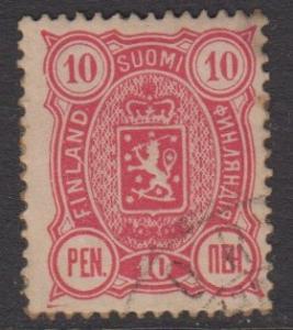 Finland - Scott 40 - Definitive -1889- FU - Single 10p Stamp