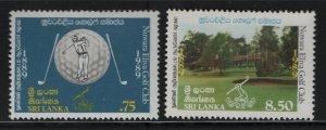 SRI LANKA 942-943 Hinged, 1989 Nuwara Eliya Golf Club, Cent.