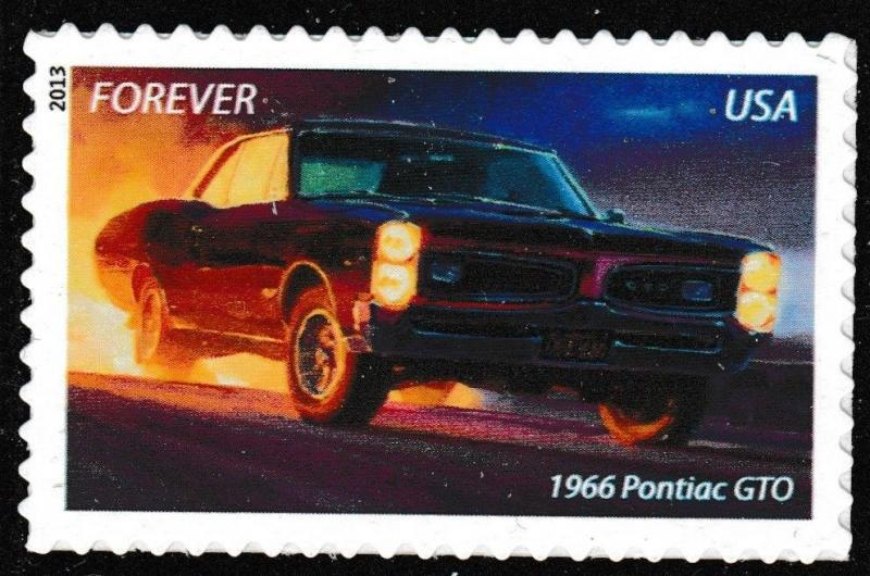 Us 4744 Muscle Cars 1966 Pontiac Gto Forever Single Mnh 2017
