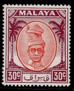 MALAYSIA - Perak GVI SG142, 30c scarlet & purple, M MINT.