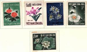South Vietnam Scott 261-265 MH* Flower set