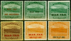 Dominica 1916-20 War Tax Set of 6 SG55-60 Fine Mtd Mint Stamp