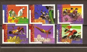 CANADIAN SET  ON XV COMMONWEALTH GAMES USED STAMPS  LOT#21