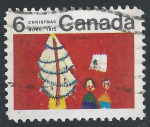 Canada #525 6c Christmas - Christmas Tree & Children