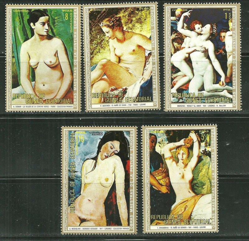 Equatorial Guinea MNH Nude Paintings