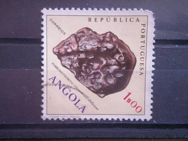 ANGOLA, 1970, used 1e, Scott 552, Fossils and Minerals