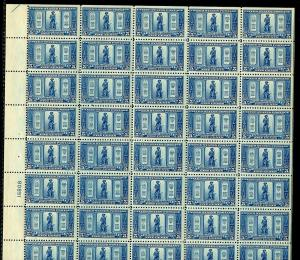 UNITED STATES SCOTT#617/19  LEXINGTON CONCORD   SHEETS OF 50 UNFOLDED MINT NH