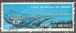 MEXICO 1063, National Engineers Day - Aqueduct. Used. VF. (523)