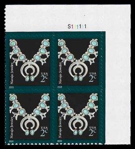 PCBstamps     US #3751 PB 8c(4x2c)Navajo Necklace, 2006, MNH, (PB-2)