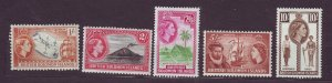 J23737 JLstamps 1956-60 solomos islands part of set mh #99,101-4 queen views