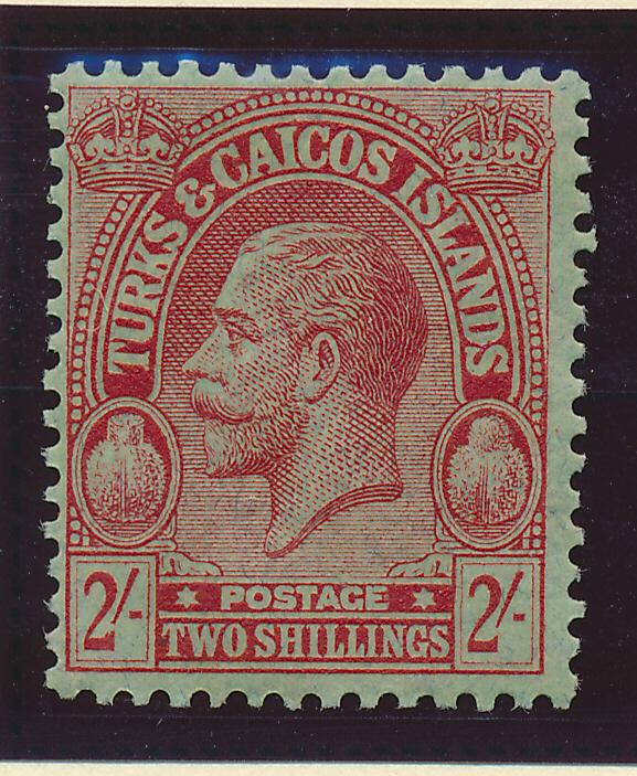 Turks and Caicos Stamp Scott #56, Mint Hinged, 2Sh From 1922-6 - Free U.S. Sh...