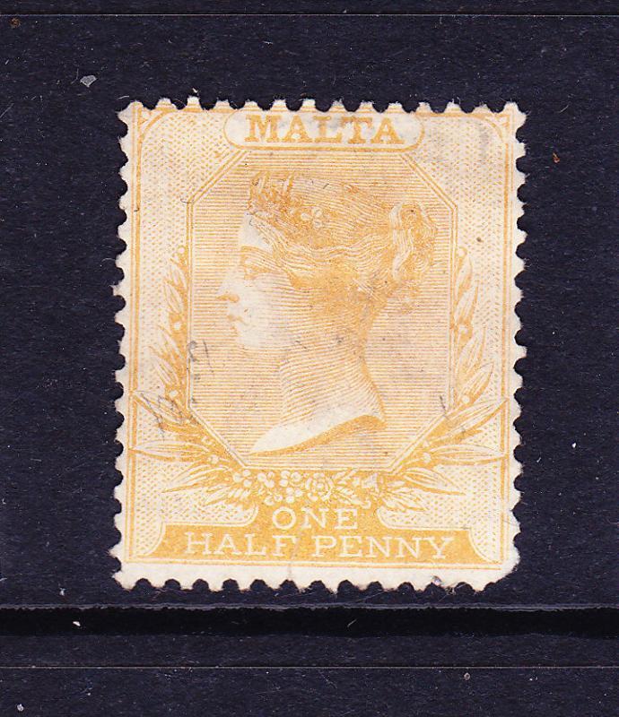 MALTA  1863-81  1/2d  BUFF  QV  MNG     SG 4