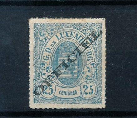 [69191] Luxembourg 1875 Official Stamp Signed FSPL  MLH VF