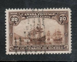 Canada #103i Extra Fine Used Major Reentry Pos 41 **With Certificate**