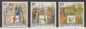 Liechtenstein Scott #1253-1254-1255 Stamps - Mint NH Set