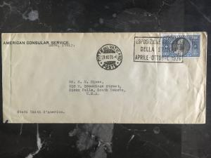 1935 Vatican cover to USA # 29  US Embassy Rome Italy Diplomatic Mail