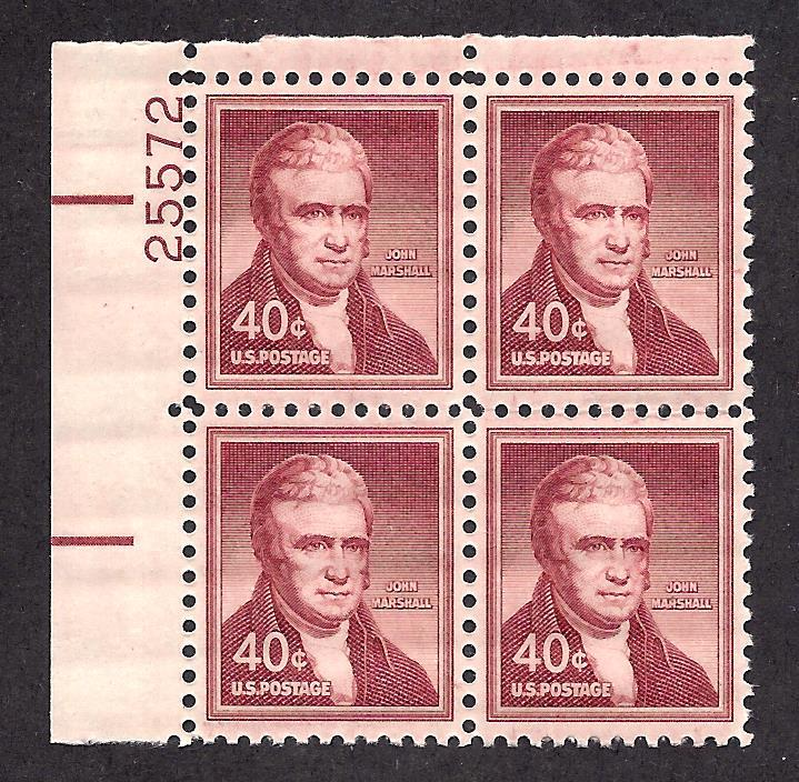 1050 Mint,OG,NH... Plate Block of 4