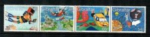 Gibraltar #831a  MNH  Scott $7.25   Strip of 4