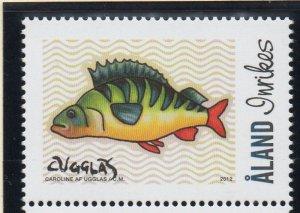 Aland Finland Sc 331 2012 Fish stamp mint NH