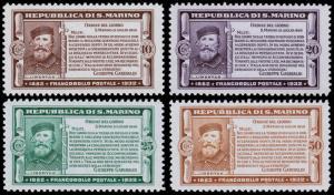 San Marino Scott 143-146 (1932) Mint VLH VF, CV $54.50