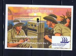 Solomon Is 1000 NH 2005 Anniv of the End of WWII