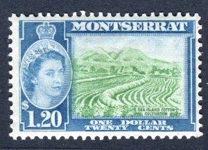 Montserrat 1953 QEII. $1.20 stamp. Mint (NH). SG147.