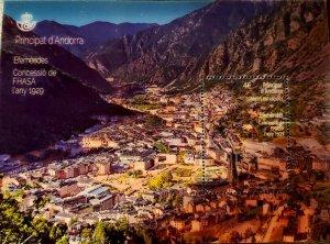 HERRICKSTAMP NEW ISSUES ANDORRA-SPANISH Sc.# 464 Electricity Lenticular S/S