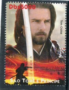Sao Tome & Principe 2004 TOM CRUISE American Actor 1v Perforated Mint (NH)