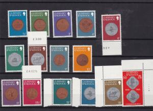 guernsey coins mnh stamps set ref 7968