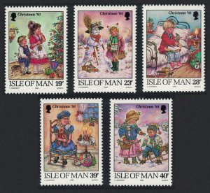 Isle of Man Christmas 5v SG#578-582