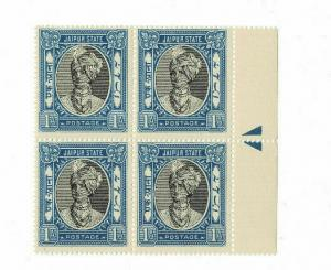 India Jaipur State 1As - SG 60 / Sc 37A BLk/4 Cat £72 MNH