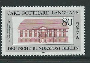 GERMANY SGB646 1982 250th BIRTH ANNIV OF CARL GOTTHARD LANGHANS MNH