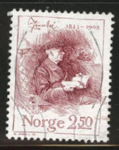 Norway Scott 828 used writer stamp1983