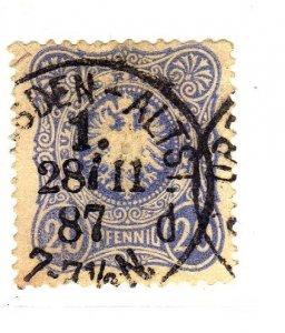 1879 -1880 Definitive - Value in 20 PF ultramarine sg42a used