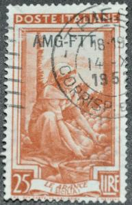 DYNAMITE Stamps: Trieste Scott #99 – USED