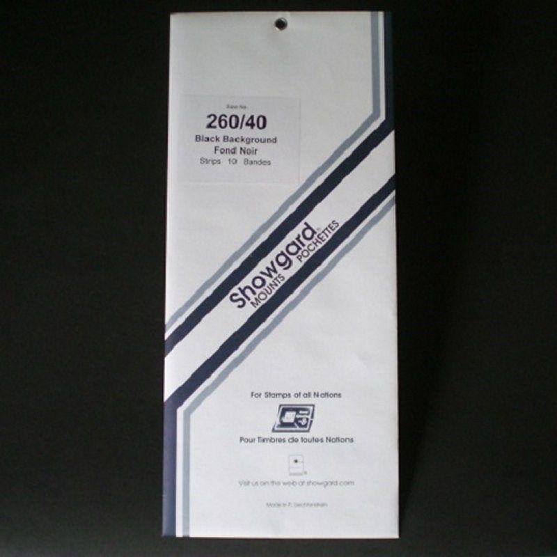Showgard Stamp Mount 260/40 mm - BLACK (Pack of 10) (260x40 260mm)  STRIP