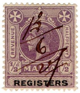 (I.B) Malta Revenue : Registers ½d