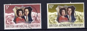 British Antarctic Territory Royal Silver Wedding Pair SG42/43 VFU X3925
