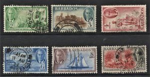 STAMP STATION PERTH  Barbados # KGVI Short Set - Used - Unchecked