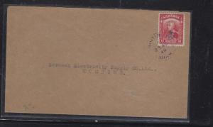 SARAWAK POSTAL HISTORY (P1509B) COVER  1949 8C ROYAL CYPHER BINTULU VIOLET TO