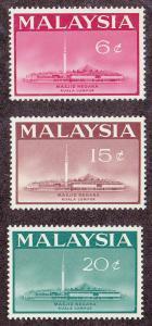 Malaysia Ntl. Mosque (Scott # 15-17) MLH