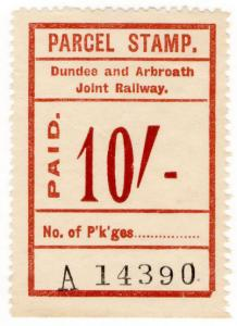 (I.B) Dundee & Arbroath Joint Railway : Parcel Stamp 10/-