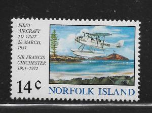 NORFOLK ISLAND,174, MNH, AIRCRAFT