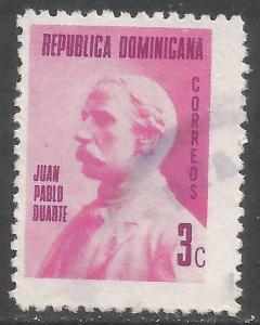 DOMINICAN REPUBLIC 666 VFU DUARTE Z2862-6