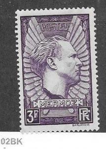 France #326  3fr dark violet  Mermoz memorial  (U) CV.$6.25