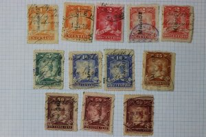 Mexico Revenue Timbre 1895-1896 series set up to 50c color shade variety