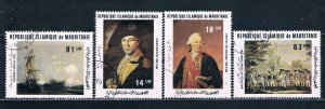Mauritania 487-90 Used set American Revolution 1981 (HV0178)