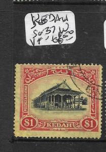 MALAYA KEDAH (P1007B)  $1.00  SG 37W   VFU