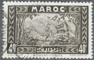 DYNAMITE Stamps: French Morocco Scott #133 – USED